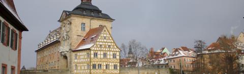 01 Bamberger Rathaus im Winter © Ralf Saalmüller