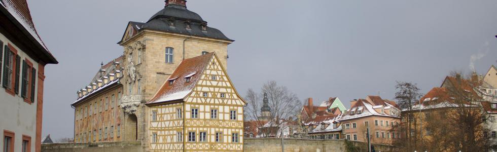 Bamberger Rathaus im Winter © Ralf Saalmüller